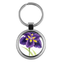 Lily Flower Plant Blossom Bloom Key Chains (Round)