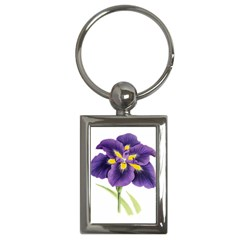 Lily Flower Plant Blossom Bloom Key Chains (Rectangle)