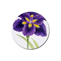 Lily Flower Plant Blossom Bloom Rubber Coaster (Round)