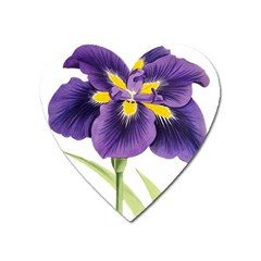 Lily Flower Plant Blossom Bloom Heart Magnet