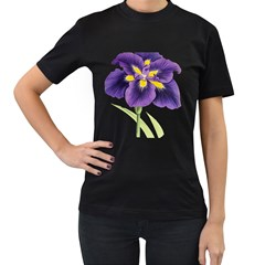 Lily Flower Plant Blossom Bloom Women s T Shirt (black) (two Sided)