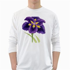 Lily Flower Plant Blossom Bloom White Long Sleeve T-Shirts