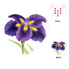 Lily Flower Plant Blossom Bloom Playing Cards (heart)