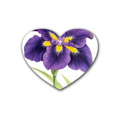 Lily Flower Plant Blossom Bloom Rubber Coaster (heart)