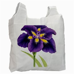 Lily Flower Plant Blossom Bloom Recycle Bag (one Side)