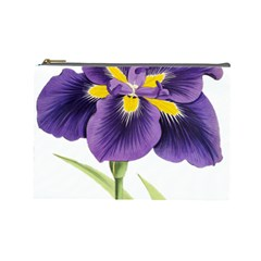 Lily Flower Plant Blossom Bloom Cosmetic Bag (Large)