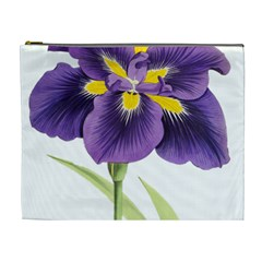 Lily Flower Plant Blossom Bloom Cosmetic Bag (XL)