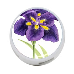 Lily Flower Plant Blossom Bloom 4 Port Usb Hub (one Side)