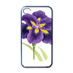 Lily Flower Plant Blossom Bloom Apple Iphone 4 Case (black)