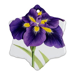 Lily Flower Plant Blossom Bloom Snowflake Ornament (Two Sides)