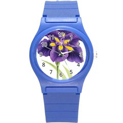 Lily Flower Plant Blossom Bloom Round Plastic Sport Watch (s)