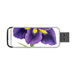Lily Flower Plant Blossom Bloom Portable Usb Flash (one Side)