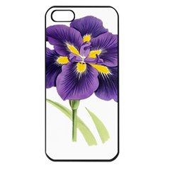 Lily Flower Plant Blossom Bloom Apple Iphone 5 Seamless Case (black)