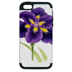 Lily Flower Plant Blossom Bloom Apple Iphone 5 Hardshell Case (pc+silicone)