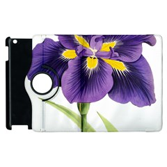 Lily Flower Plant Blossom Bloom Apple Ipad 2 Flip 360 Case