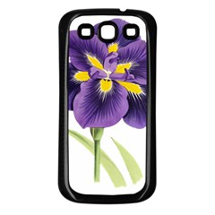 Lily Flower Plant Blossom Bloom Samsung Galaxy S3 Back Case (Black)