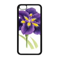 Lily Flower Plant Blossom Bloom Apple iPhone 5C Seamless Case (Black)