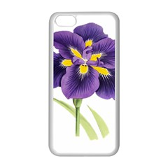 Lily Flower Plant Blossom Bloom Apple Iphone 5c Seamless Case (white)