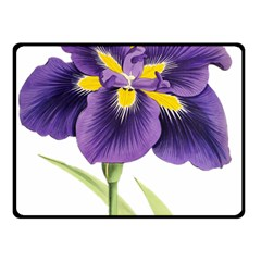 Lily Flower Plant Blossom Bloom Double Sided Fleece Blanket (Small)