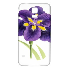 Lily Flower Plant Blossom Bloom Samsung Galaxy S5 Back Case (White)