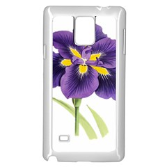 Lily Flower Plant Blossom Bloom Samsung Galaxy Note 4 Case (White)