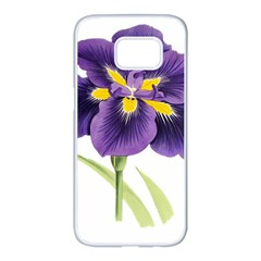 Lily Flower Plant Blossom Bloom Samsung Galaxy S7 Edge White Seamless Case