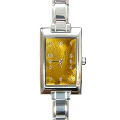 Beer Beverage Glass Yellow Cup Rectangle Italian Charm Watch