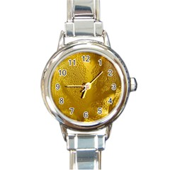 Beer Beverage Glass Yellow Cup Round Italian Charm Watch