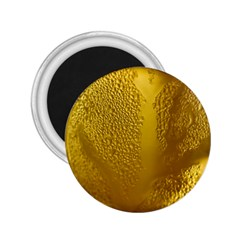 Beer Beverage Glass Yellow Cup 2.25  Magnets