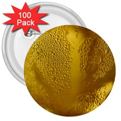 Beer Beverage Glass Yellow Cup 3  Buttons (100 Pack)