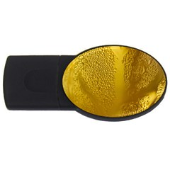 Beer Beverage Glass Yellow Cup USB Flash Drive Oval (2 GB)