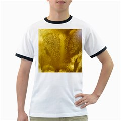 Beer Beverage Glass Yellow Cup Ringer T Shirts