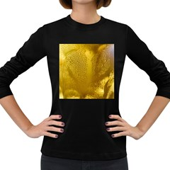 Beer Beverage Glass Yellow Cup Women s Long Sleeve Dark T Shirts