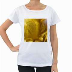 Beer Beverage Glass Yellow Cup Women s Loose Fit T Shirt (white)