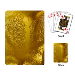 Beer Beverage Glass Yellow Cup Playing Card