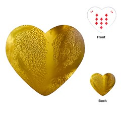 Beer Beverage Glass Yellow Cup Playing Cards (heart)