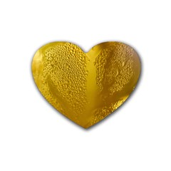 Beer Beverage Glass Yellow Cup Heart Coaster (4 Pack)