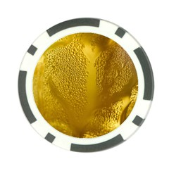 Beer Beverage Glass Yellow Cup Poker Chip Card Guard
