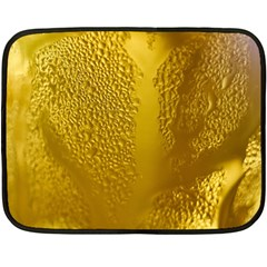 Beer Beverage Glass Yellow Cup Double Sided Fleece Blanket (Mini)