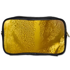 Beer Beverage Glass Yellow Cup Toiletries Bags 2 Side