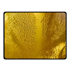Beer Beverage Glass Yellow Cup Fleece Blanket (Small)
