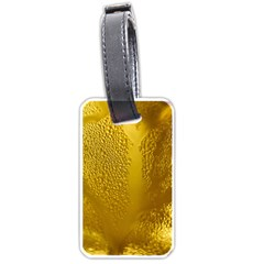 Beer Beverage Glass Yellow Cup Luggage Tags (one Side)
