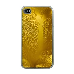 Beer Beverage Glass Yellow Cup Apple Iphone 4 Case (clear)