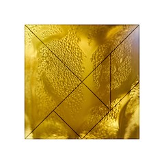 Beer Beverage Glass Yellow Cup Acrylic Tangram Puzzle (4  X 4 )