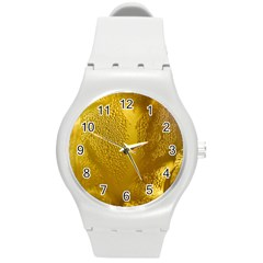 Beer Beverage Glass Yellow Cup Round Plastic Sport Watch (M)