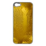 Beer Beverage Glass Yellow Cup Apple iPhone 5 Case (Silver) Front
