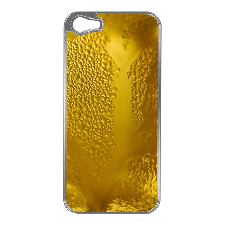 Beer Beverage Glass Yellow Cup Apple iPhone 5 Case (Silver)