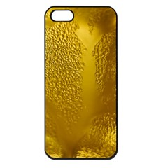 Beer Beverage Glass Yellow Cup Apple iPhone 5 Seamless Case (Black)
