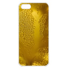 Beer Beverage Glass Yellow Cup Apple iPhone 5 Seamless Case (White)