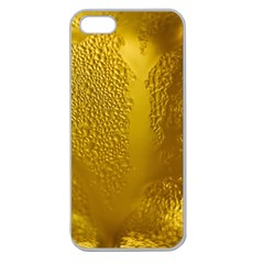 Beer Beverage Glass Yellow Cup Apple Seamless Iphone 5 Case (clear)